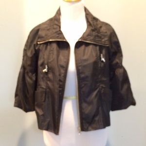 Black windbreaker jacket