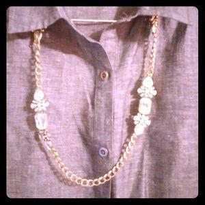 Bluish gray chambray Merona dress