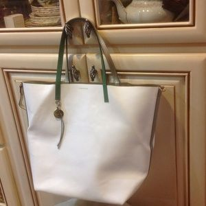 Dimoni white leather TOTE bag BRAND NEW