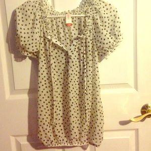 Polka dot dress shirt
