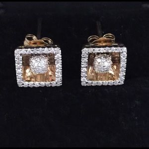 1.5 TCW Natural Diamond Halo Earrings In 14K Gold