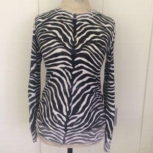 Michael Kors zebra print top SMALL