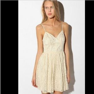 Urban Outfitters Beige Lace Dress