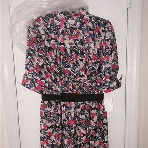 New jessica simpson floral shirtdress - sz 4