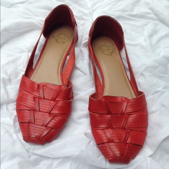 25b0368fbd12c Ecote Shoes - Ecote red leather huaraches