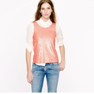 J.crew sequin tank top
