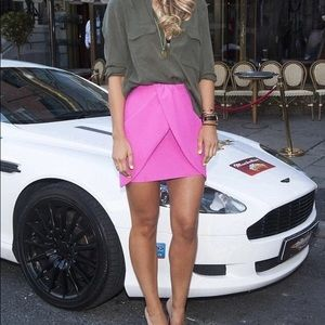 Hot Pink Mini Skirt H&M