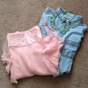 Soft Pink Bebe Skirt