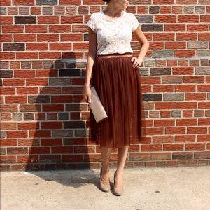 Dresses & Skirts - NEW Espresso Tulle Skirt