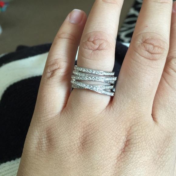 6c092f32034d Swarovski Spiral Ring! Stunning!! 💍. M 5536c0566ba9e60ab0004e91