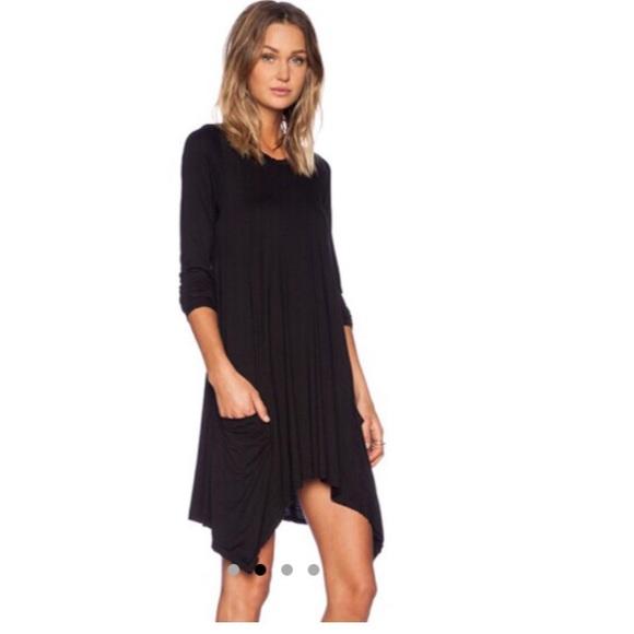 Dresses - Black long sleeve pleated dress BUNDLED