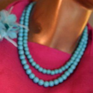 Double strand turquoise necklace