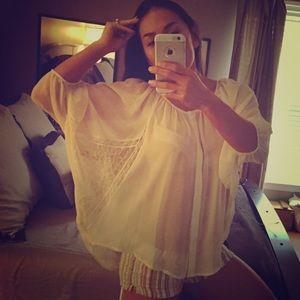 Lauren Conrad Cream blouse (SM)