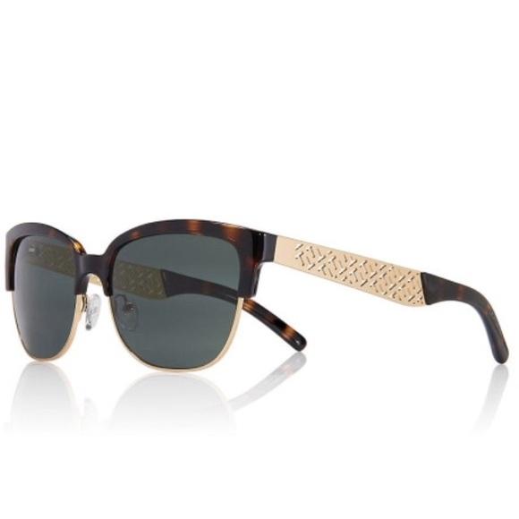 c85c0a1c67d88 Tory Burch Fret T Tortoise Sunglasses. M 5536d0846a58305af8005430