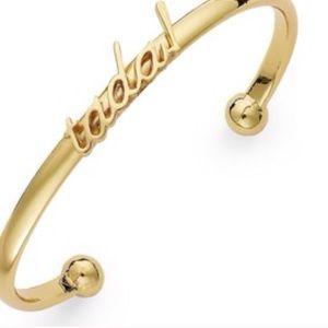 kate spade Jewelry - NWT Kate Spade gold tone idiom bangle. Dainty!