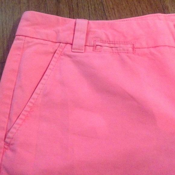 57% off GAP Pants - New gap boyfriend roll up pink khaki shorts ...