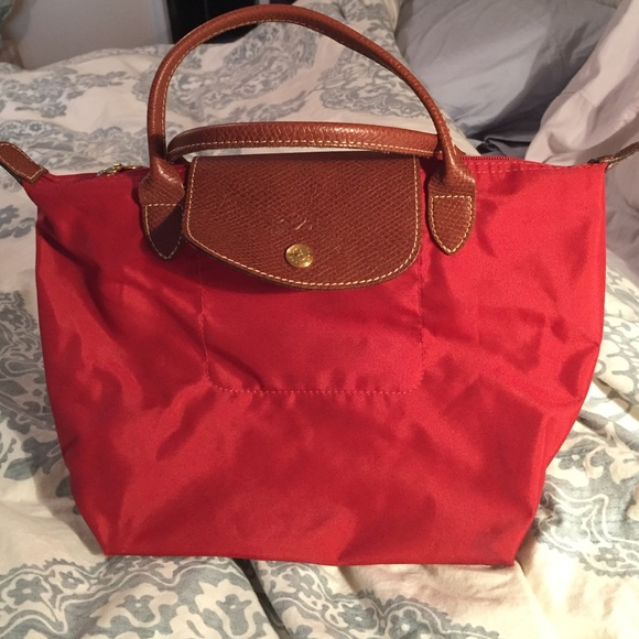 74% off Longchamp Handbags - LongChamp Le Pliage Mini in Deep Red ...