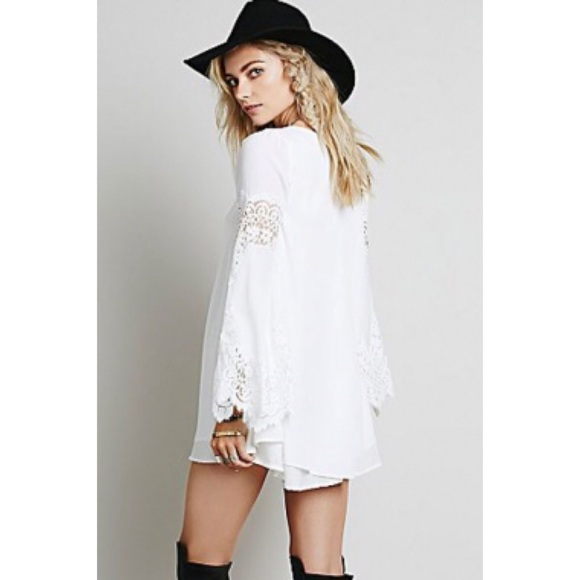 62% off Boutique Dresses & Skirts - NWT white lace boho chic dress ...