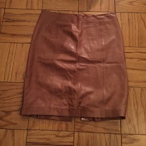 talbots talbots leather skirt from s closet