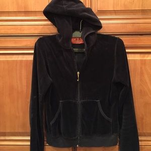 Black Juicy Couture Velour jacket