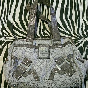 Gray GUESS handbag