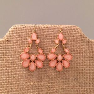 Pale pink statement earrings