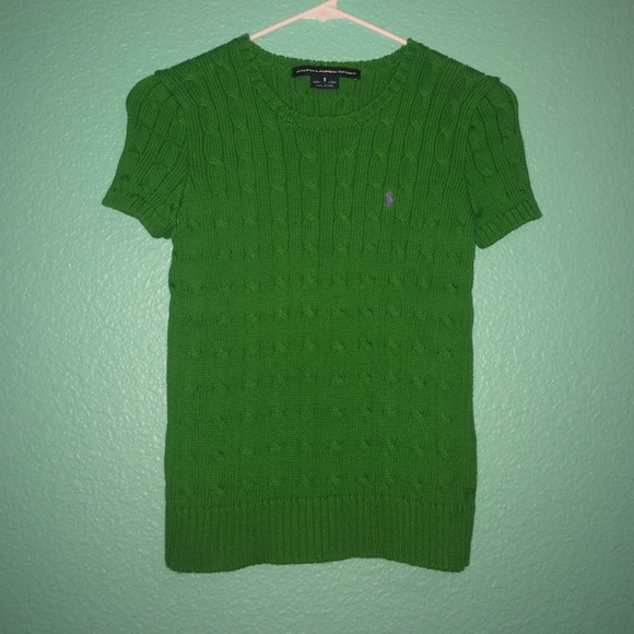 05f794ce Ralph Lauren Kelly Green SS Cable Sweater S