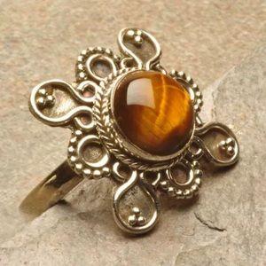 Jewelry - 925 Tigers Eye Ring