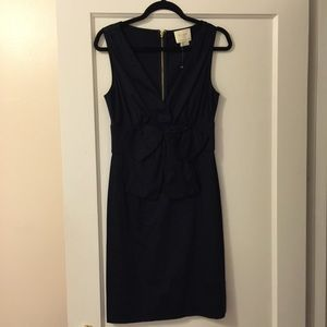 New Kate Spade Navy Bow Front Dress