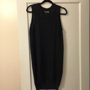 ACNE Charcoal Sleeveless Sweater Dress