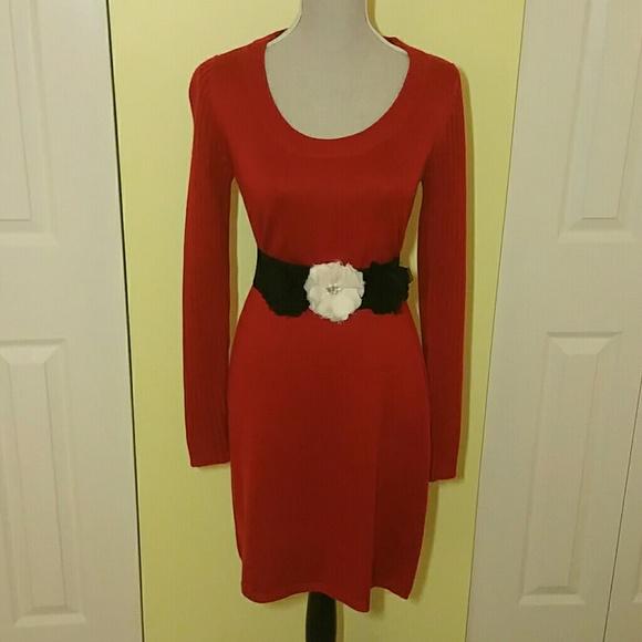 Sweater Dress Calvin Klein Calvin Klein Red Sweater Dress
