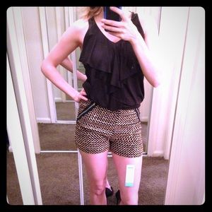 NWT Gold Sequence Shorts