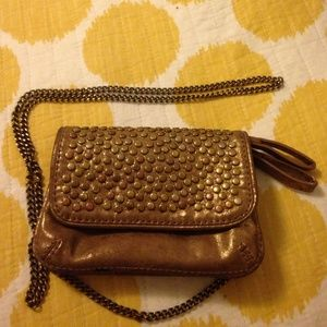 Gap gold tone leather studded Crossbody