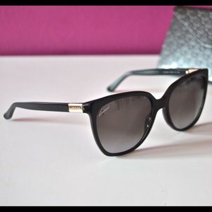 Gucci Black Plastic Oversized Sunglasses NEW