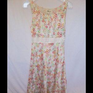 Ports 1961 Dresses & Skirts - 💋PORTS White/Pink Circle Silk Sheath Dress Sz 4