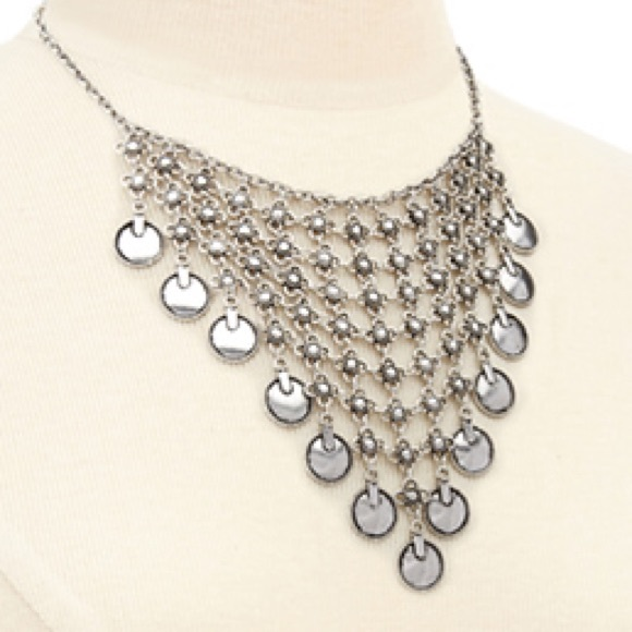 inspired mesh chain coin bib necklace os from candice s