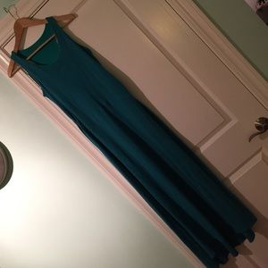 Athleta maxi dress with built in support