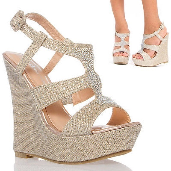 51% off Shoes - ❗ sale❗ platform wedge heel wedding shoe ...