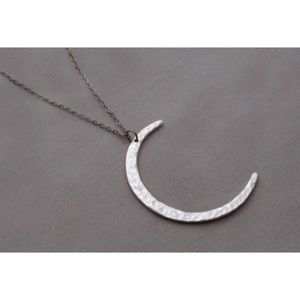61 off Free People Jewelry Long Rose Gold Crescent Moon