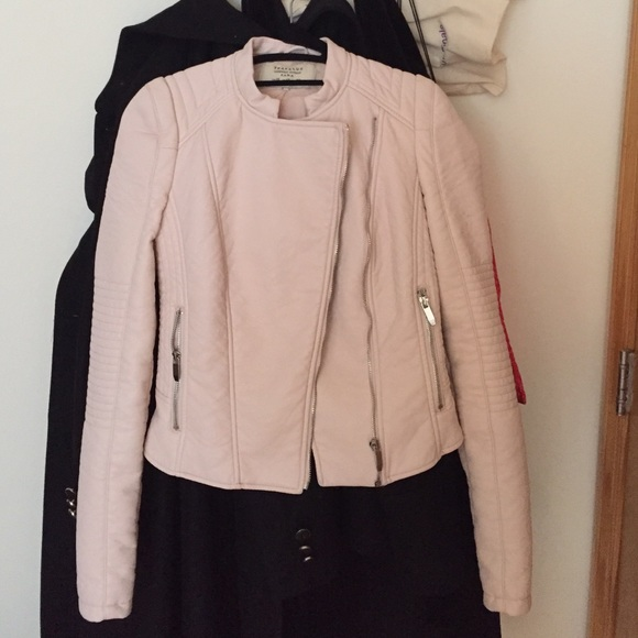 67% off Zara Jackets & Blazers - Zara trafaluc light pink faux ...