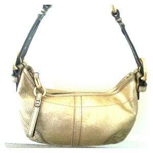 Coach Gold Goat Skin Limited Edition Hobo Bag AUTH