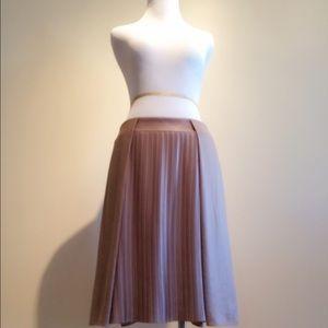 under.ligne Dresses & Skirts - Doo.Ri pleated front skirt in dark beige