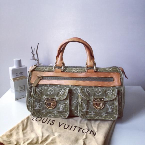 31ccabf3a1c9 Louis Vuitton Handbags - Louis Vuitton Green Monogram Denim Neo Speedy Bag