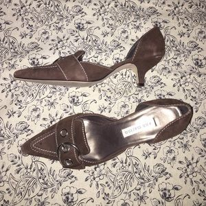Ann Marino Shoes - D'Orsay Suede kitten heels