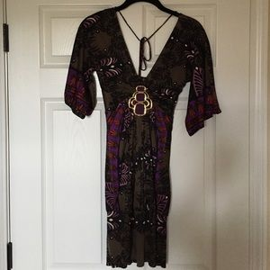 Sky Dress with Beautiful Medallion by chest