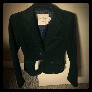 H&m blazer brand new green corduroy