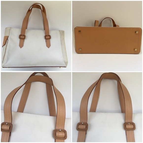 Burberry - Burberry Leather and Canvas Tote Bag from J's closet on ...