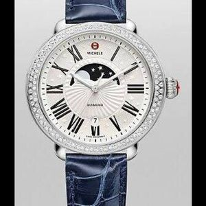 Michele Jewelry - Michele Serein Moon Phase Diamond Watch