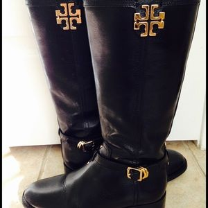 Tory Burch Authentic Black Riding Boots
