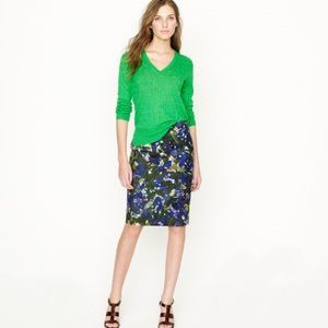JCREW no 2 pencil skirt size 0 in gardenshade